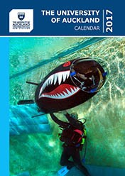 2017 University of Auckland Calendar cover